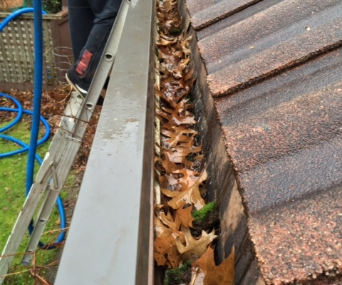 Vancouver Gutter Cleaning project on hidden gutters or built-in gutters.